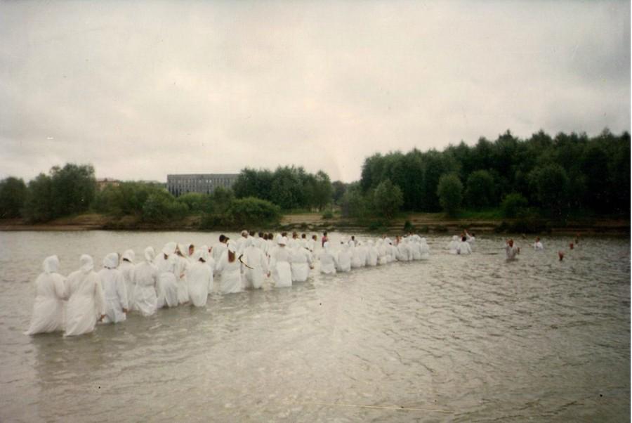 Крещение на Иртыше в Омске 1992 год.