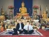 На конференции в Лос Анджелесе у Мак Артура перерыв. В  храме буддистов, по соседству, мы с Алексеем Прокопенко пробуем, какова  сила их  духов. Абсолютно никакой силы. Просто красиво. Но бесполезно.  Проверено.