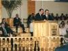 Роберт Провост на кафедре церкви в г. Сельцо Брянской области. Освящение дома молитвы.