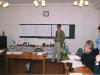 Юрий Чубенко, проректор по административно хозяйственно части. Докладывает Совету Попечителей план реконструкции задания