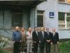 Члены Совета попечителей у здания Семинарии. Так оно выглядело до реконструкции