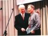 Брат  Василий Коробов,  Председатель Союза ЕХБ в Туркменистане из рук Мак Артура получил  учебную Библию. Блаженствует.
