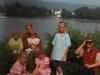Семья Дик Геннадия. Только что вышли из воды, приплыв Германию из Молдавии.