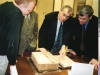А вот и он, исторический экземпляр самой первой библии, написанной руками апостолов. Храниться в специальном футляре, закрытом в шкафу. Для нас достали, и мы с умным видом глядим.