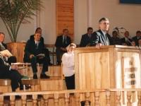 Рувим Степанович в церкви г. Сельцо, Брянской области. За ним Роберт Провост и чуть правее пресвитер Церкви, Салехович, так его зовут братья. Он улыбается всегда.